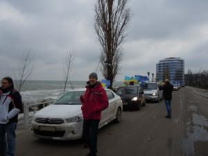 An AutoMaidan procession in Odessa on January 25, 2014 © Yuriy Kvach | Wikimedia Commons