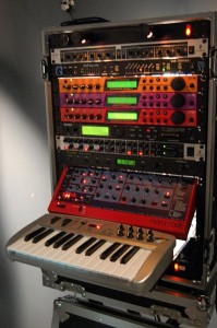 Synth Rack @ Choking Sun Studio -- MIDI allows multiple instruments to be played from a single controller © Blurred Ren | Wikimedia Commons