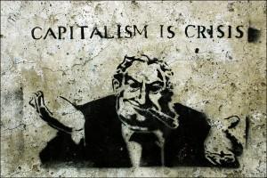 """""""Capitalism is Crisis"""" street art © 2009 Steffi Reichert   Flickr"""