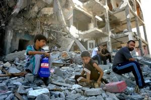 A scene form Gaza, 2014 © United Nations Photo | Flickr