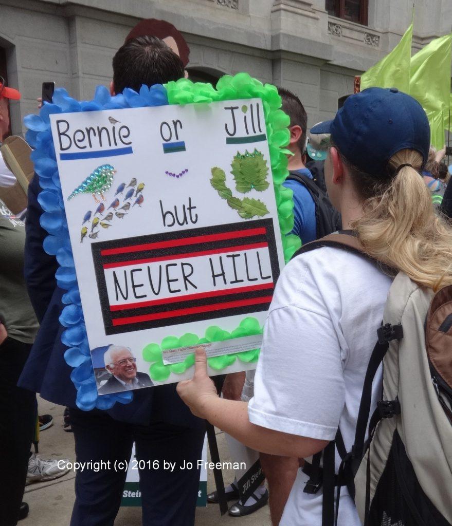 Bernie or Jill but NEVER HILL © Jo Freeman |2016
