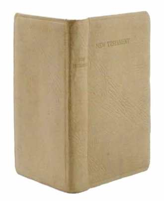 Mini White Leather New Testament Hollow Book Safe