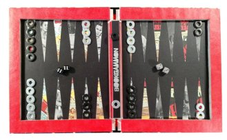 This Fabulous Century 1940-1950 Hollow Book Bookgammon Backgammon Set