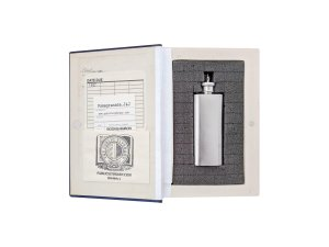 inside of The Old Testament in the New Hollow Book Safe with 2 ounce flask