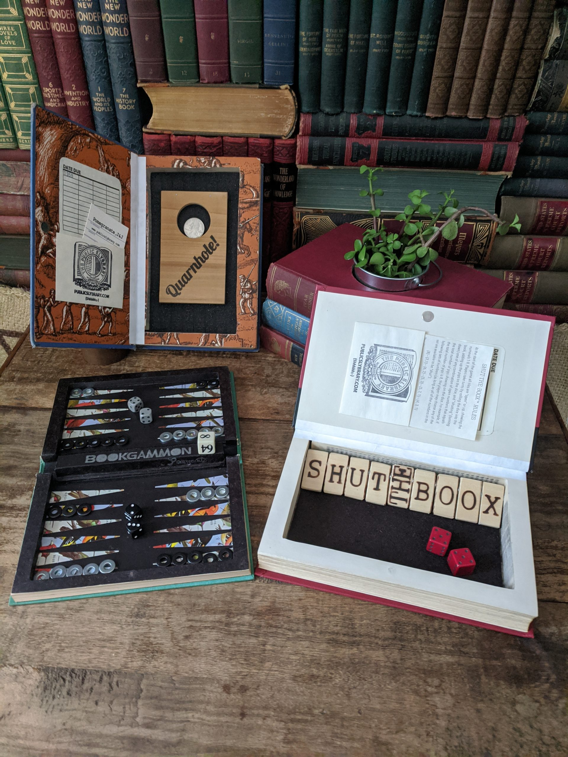 Unique book safes from the Public Slybrary