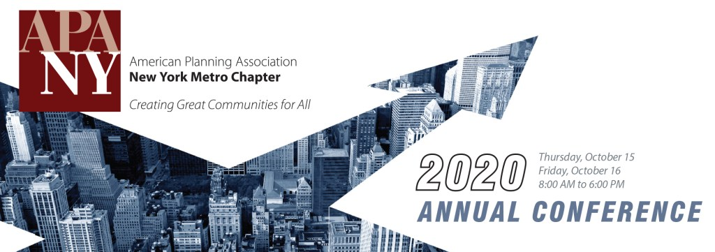 American Planning Association NY Metro Chapter 2020 Annual Conference Banner