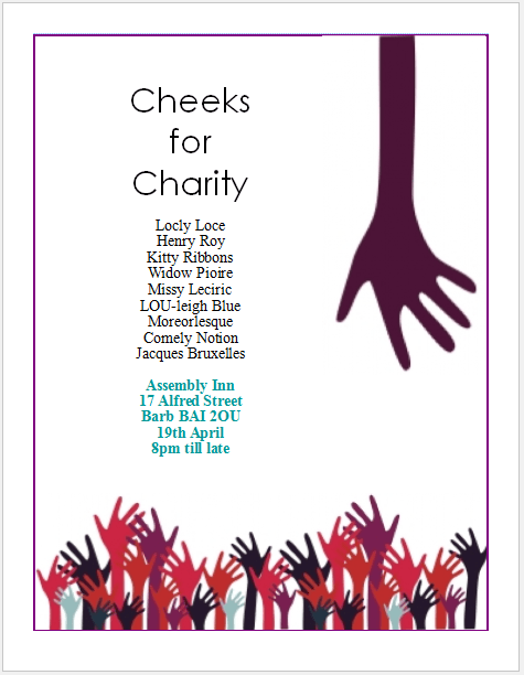 Charity Flyer Template with Simplicity – Publisher Flyer Templates