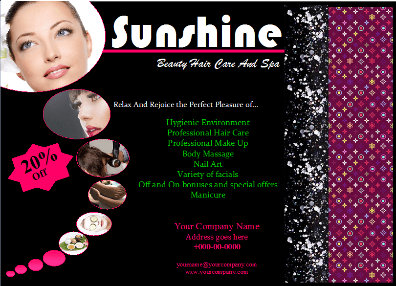 Here Are Few Tips And Guidelines For Creating Editing The Beauty Saloon Flyer