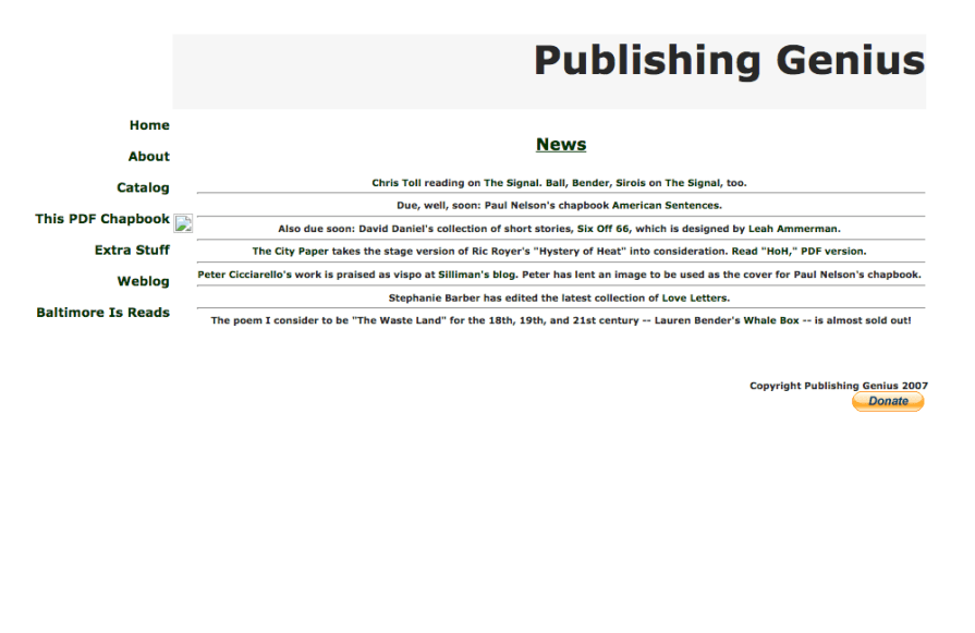 Welcome to the New Publishing Genius Website