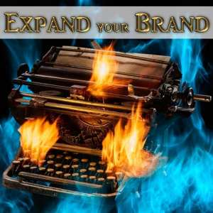 this branding service helps authors expand their brand--Typewriter with Hot Flames to show Author that is HOT