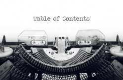 33 Writing Hacks for Those Craving to Publish: Writing Hack #14 Table of Contents by Deborah S. Nelson