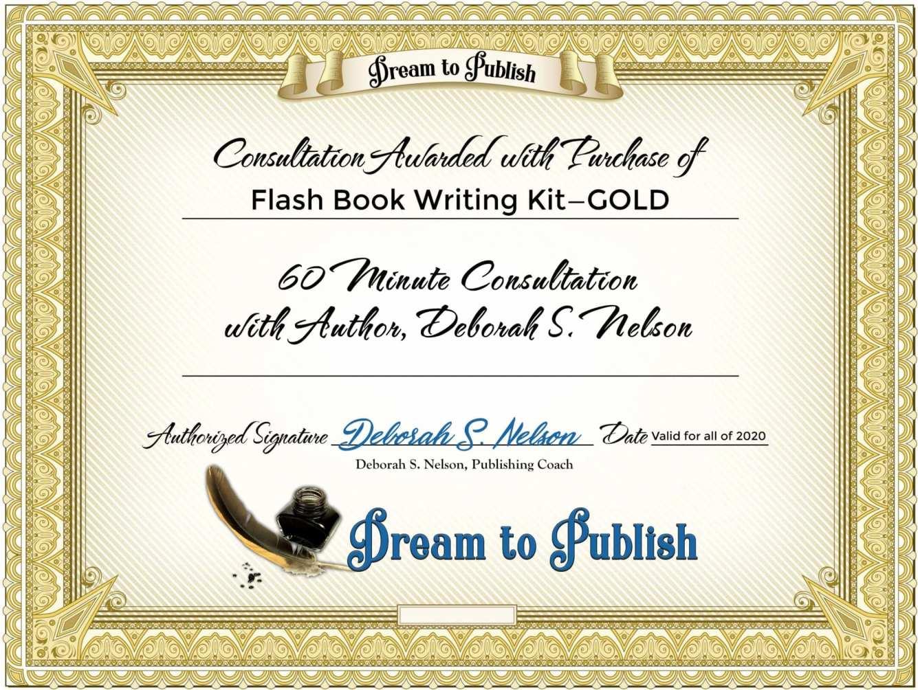 Flash Book Writing Kit—GOLD Certificate