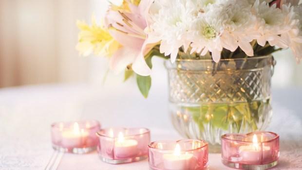 świece różowe