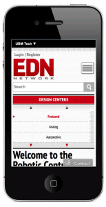 EDN is one of only three electronics press websites that is mobile responsive