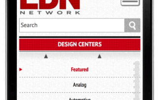 EDN is one of only two electronics press websites that is mobile responsive