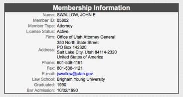 Swallow Utah Bar