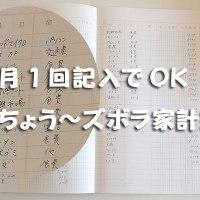 月1記入でOK!レシートまとめて貯め込み家計簿