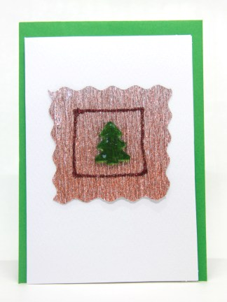 A handmade greeting card especially for Christmas