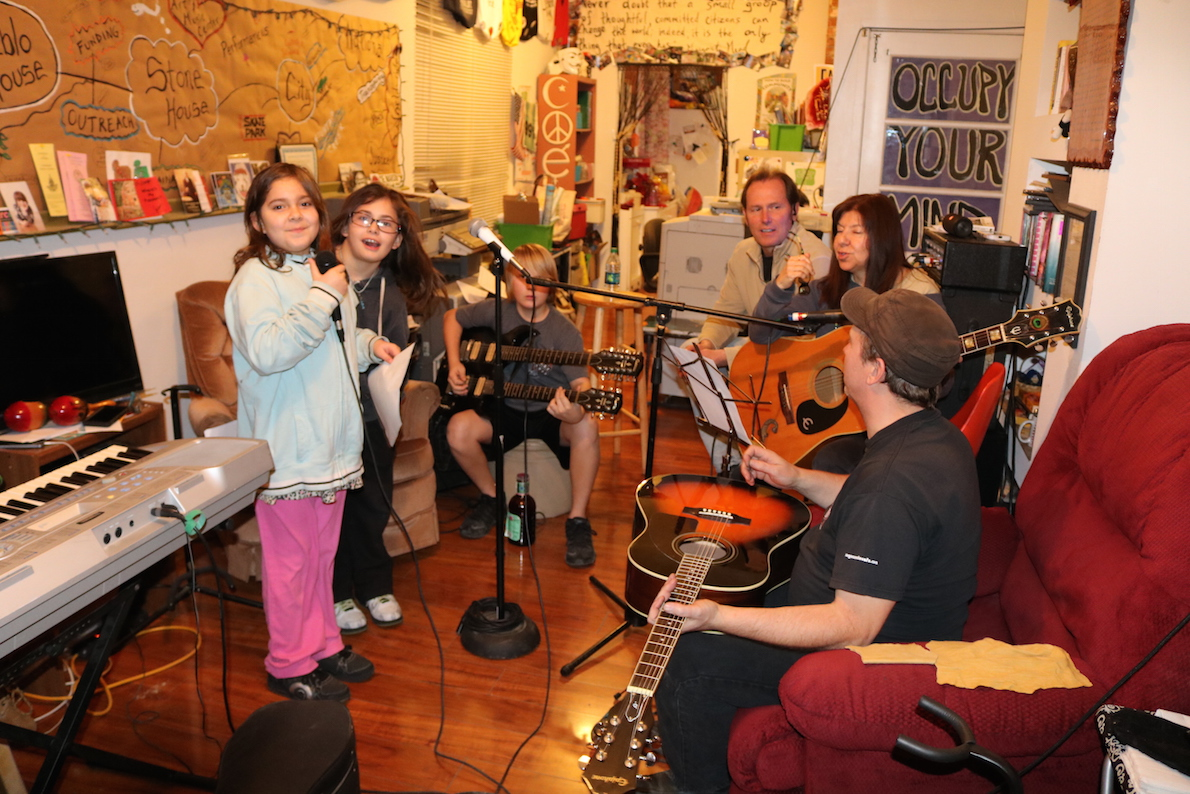our first saturday youth jam a huge success pueblo house kids jamming and singing