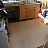 Kitchen getting a new floor