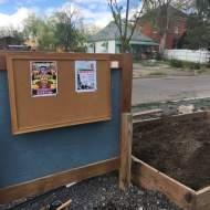 A new planter box and bulletin board