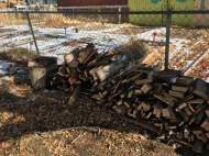 Fire wood cut and stacked