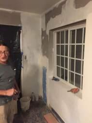 Art drywalling and sanding