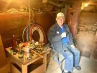 Stan works on plumbing