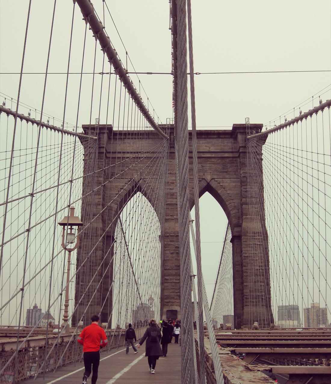 Corriendo por el puente de Brooklyn