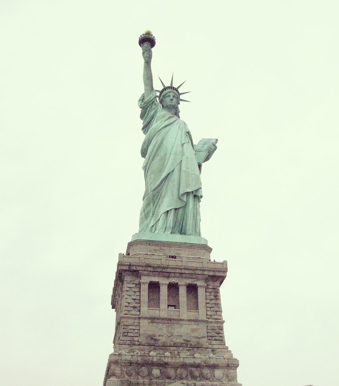 Vista de la Estatua de la libertad