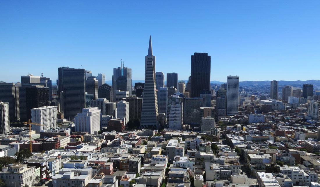 Vista de la ciudad desde la Coit Tower