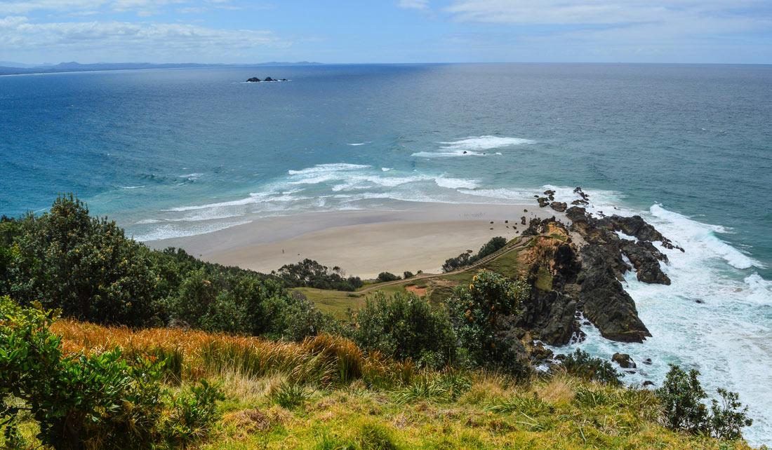 Paseo costero en Byron