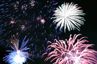 Feuerwerk zum Abschluss des 650. Pützchens Markt am Dienstag