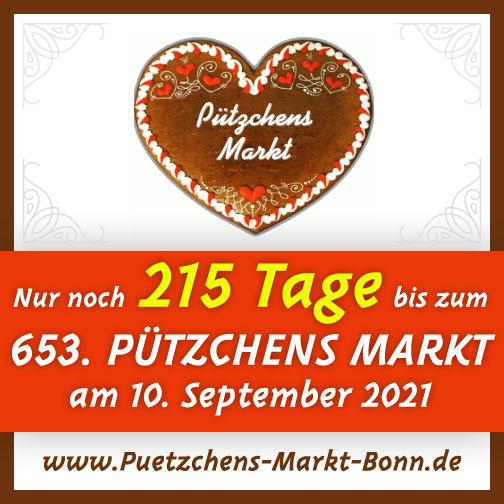 Nur noch 215 Tage bis zu Pützchens Markt 2021!
