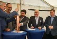 Grundsteinlegung für Schauwasserkraftwerk gelegt