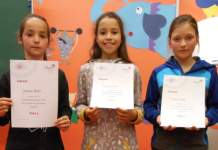 Johanna, Etenia und Helene sind die besten Vorleserinnen