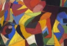 Ein sehr buntes, abstraktes Gemälde