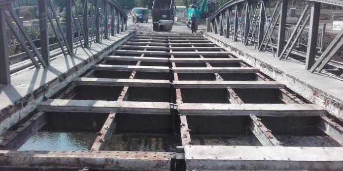 Morgen zieht die Riethbrücke um