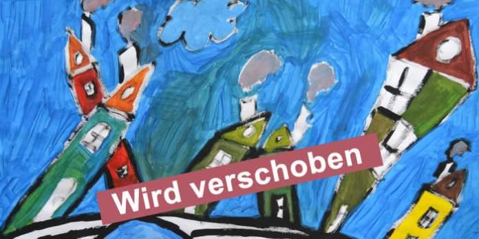 Zeichnung der Krämerbrücke mit Aufschrift: Wird verschoben
