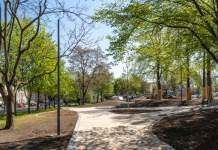 eine im Bau befindliche Parkanlage