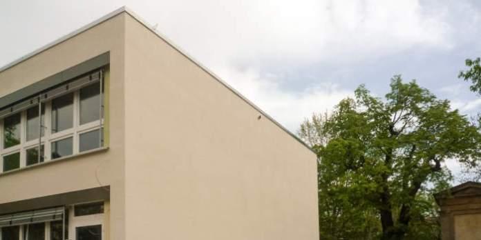 eine Häuserwand
