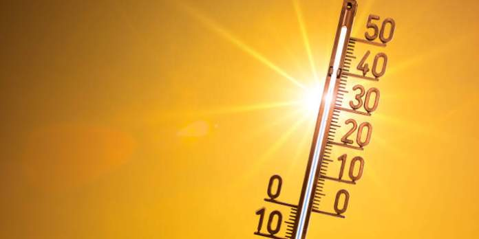 Thermometer mit Sonne