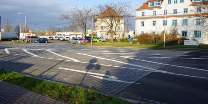 Eine große Straßenkreuzung