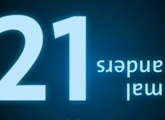 """Postkartenmotiv Museumsnächte 2021: große """"21"""", """"mal anders"""" auf dem Kopf stehend und die Internetadresse nachtdermuseen.com"""
