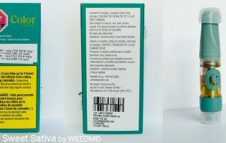 81.08% THC Pedro Sweet Sativa Vape Cartridge by WEEDMD