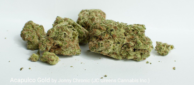 22.8% THC 2.54% Terpenes Acapulco Gold by Jonny Chronic