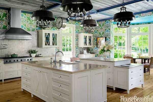 Яркие цветочные обои на кухне 〛 Фото Идеи Дизайн
