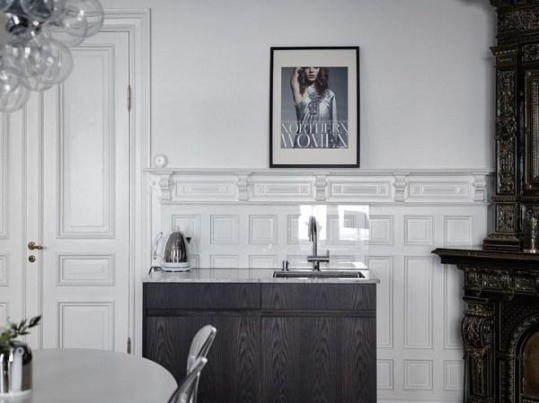 Элегантная черно-белая квартира (94 кв. м) 〛 Фото Идеи Дизайн