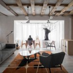 Indoor Tree And Retro Details Unusual Country House Design In Poland Photos Ideas Design