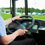autista d'autobus al lavoro